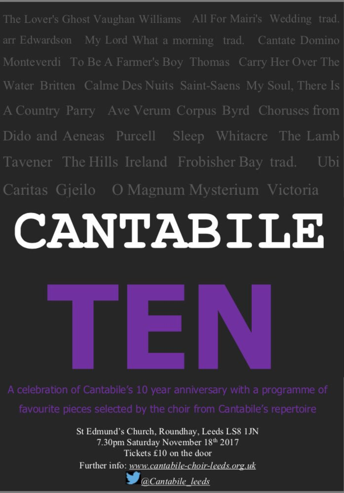 Cantabile Ten poster